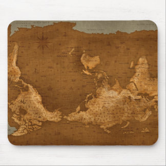 World Map - Upside Down Mouse Pad
