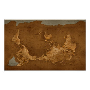 World Map - Upside Down Poster at Zazzle
