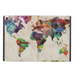 World Map Urban Watercolor Case For iPad Air