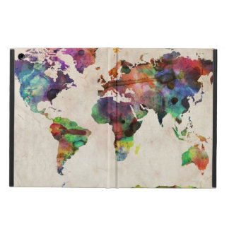 World Map Urban Watercolor iPad Air Case