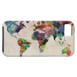 World Map Urban Watercolor iPhone 5 Covers