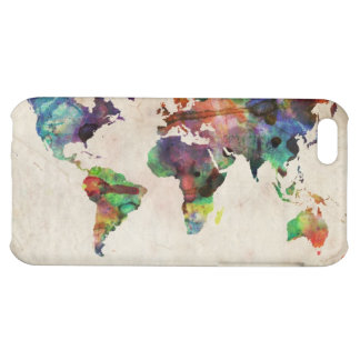 World Map Urban Watercolor Cover For iPhone 5C
