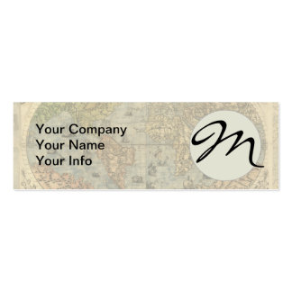 World Map Vintage Atlas Historical Continents Business Cards