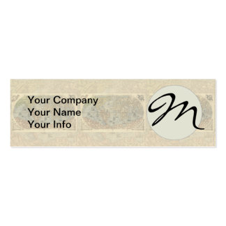 World Map Vintage Atlas Historical Continents Business Card Templates