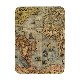 World Map Vintage Atlas Historical Continents Magnet