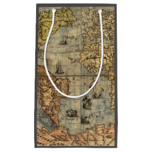 Vintage world map gift bags zazzle world map vintage atlas historical continents small gift bag gumiabroncs Image collections