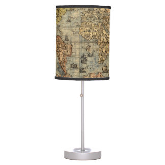 World Map Vintage Atlas Historical Desk Lamps