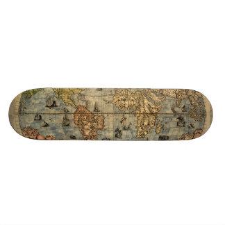 World Map Vintage Atlas Historical Skateboards