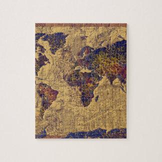 Vintage world map jigsaw puzzles zazzle world map vintage jigsaw puzzle gumiabroncs Image collections