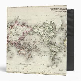 World Map Vinyl Binder
