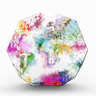 world map watercolor  12 award