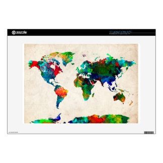 world map watercolor 20 laptop decals