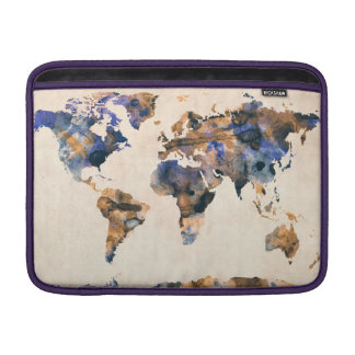 World Map Watercolor Sleeve For MacBook Air