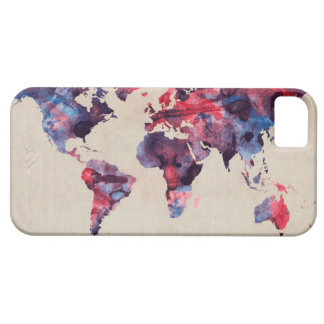 World Map Watercolor iPhone SE/5/5s Case