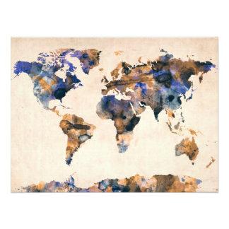 World Map Watercolor Photo