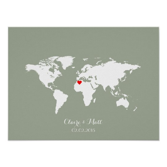 World map wedding guest book signing board zazzle world map wedding guest book signing board gumiabroncs Images