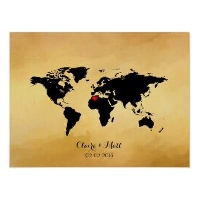 World map wedding guest book signing board zazzle gumiabroncs Images