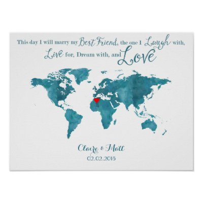 World map wedding guest book signing board zazzle gumiabroncs Image collections