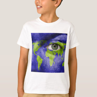World Map with an Eye Watching Out T-Shirt