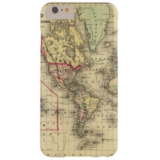 World Map with Explorers' sea routes Barely There iPhone 6 Plus Case