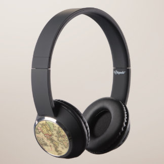 World Map with Explorers' sea routes Headphones
