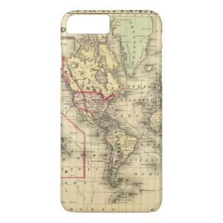 World Map with Explorers' sea routes iPhone 8 Plus/7 Plus Case