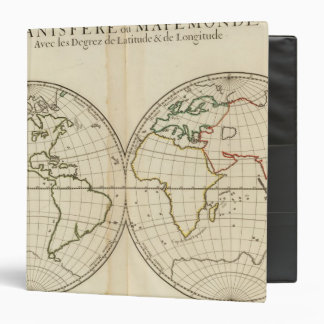 World Map with Latitude and Longititude Binders
