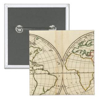 World Map with Latitude and Longititude Pins