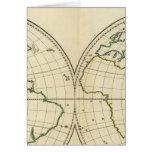 World Map with Latitude and Longititude Card