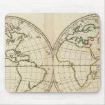 World Map with Latitude and Longititude Mouse Pad