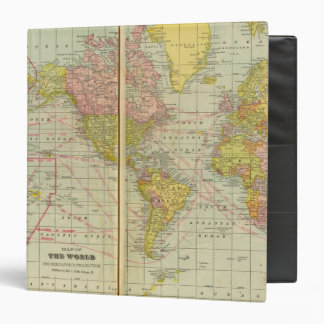 World map with shipping lanes binder