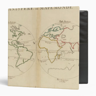 World Map with Tropics 3 Ring Binder