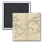 World Map with Tropics Magnets