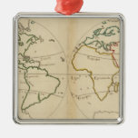 World Map with Tropics Ornaments