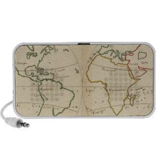 World Map with Tropics Portable Speaker