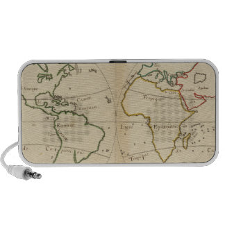 World Map with Tropics Travelling Speaker