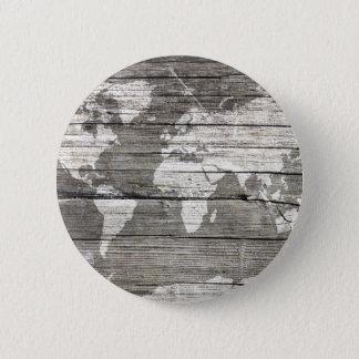 world map wood 8 button