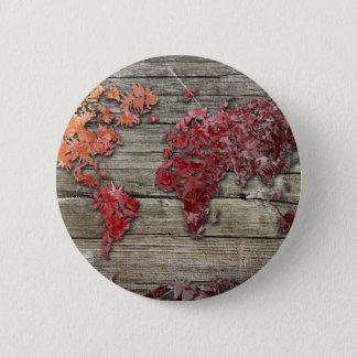 world map wood 9 button