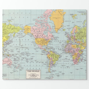 Maps Wrapping Paper | Zazzle