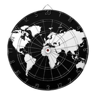 world maps ~ customizable color dartboard
