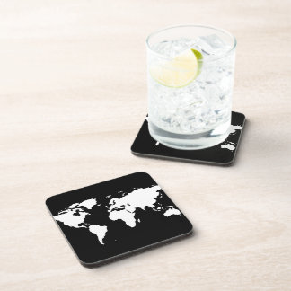 world maps ~ customizable color drink coaster