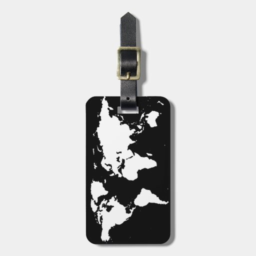 world maps ~ customizable color luggage tags