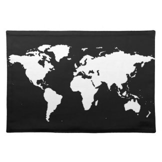world maps ~ customizable color cloth placemat