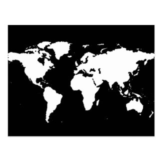 world maps ~ customizable color post card