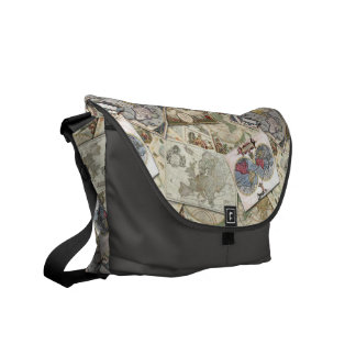 World Maps Courier Bag