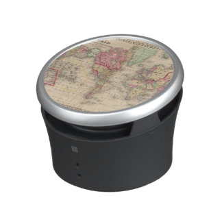 World Mercator proj Map by Mitchell Bluetooth Speaker