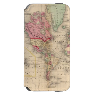 World Mercator proj Map by Mitchell iPhone 6/6s Wallet Case