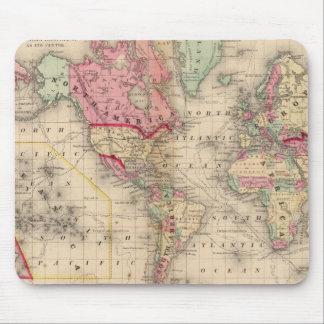 World Mercator proj Map by Mitchell Mouse Pad