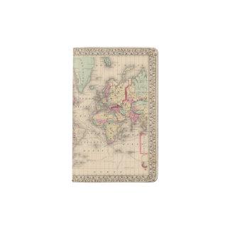 World Mercator proj Map by Mitchell Pocket Moleskine Notebook