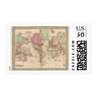 World Mercator proj Map by Mitchell Postage